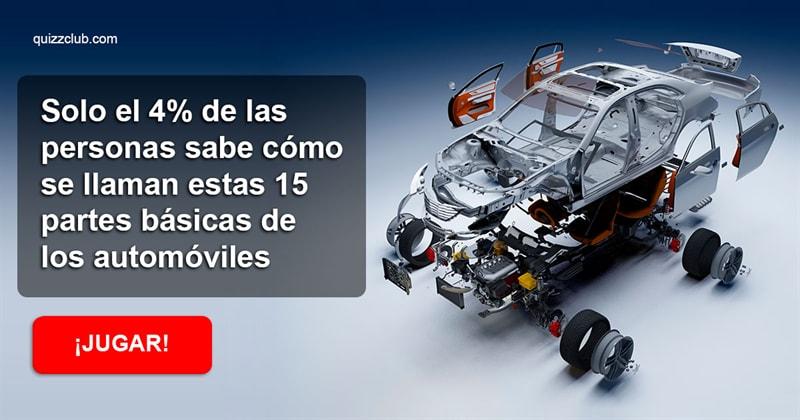 Сiencia Quiz Test: Solo el 4% de las personas sabe cómo se llaman estas 15 partes básicas de los automóviles