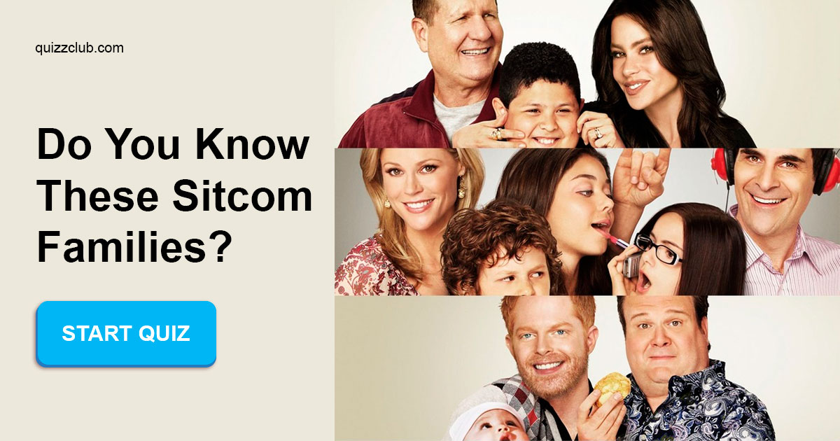 Can you name the TV sitcom families    | Trivia Quiz | QuizzClub