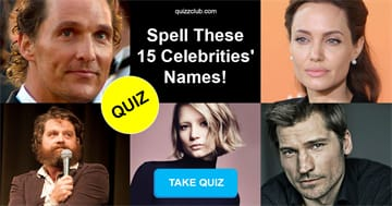 Movies & TV Quiz Test: Only Pop Culture Experts Can Spell These 15 Celebrities' Names!