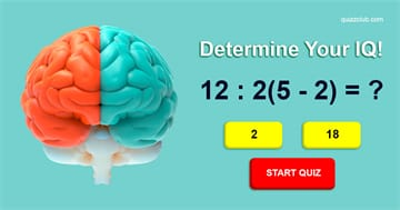 IQ Quiz Test: This Test Will Determine Your IQ Based On Your Logic
