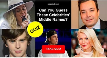 Movies & TV Quiz Test: Can You Guess These Celebrities' Middle Names?