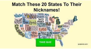 Geography Quiz Test: Try To Match These 20 States To Their Nicknames!