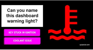 knowledge Quiz Test: Can you name these 9 common dashboard warning lights?