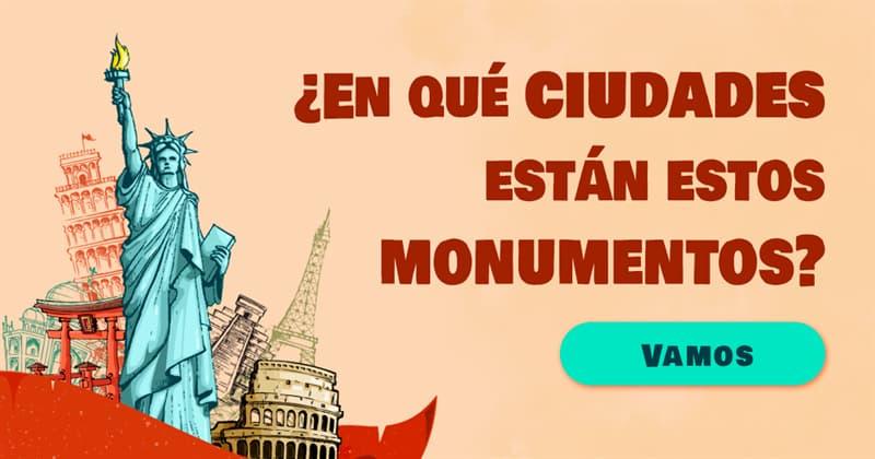 Geografía Quiz Test: ¿En qué ciudades están estos monumentos?