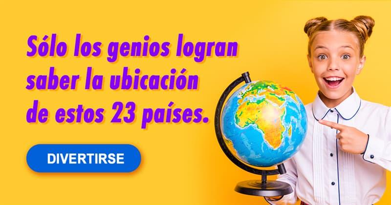 Geografía Quiz Test: Sólo los genios logran saber la ubicación de estos 23 países.
