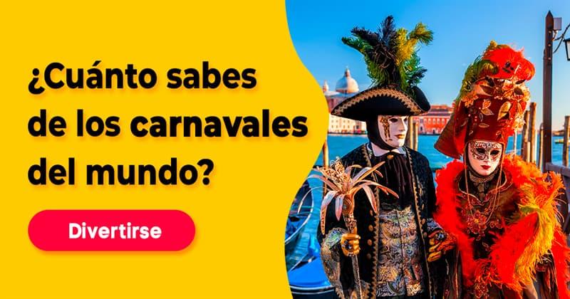 Cultura Quiz Test: ¿Cuánto sabes de los carnavales del mundo?
