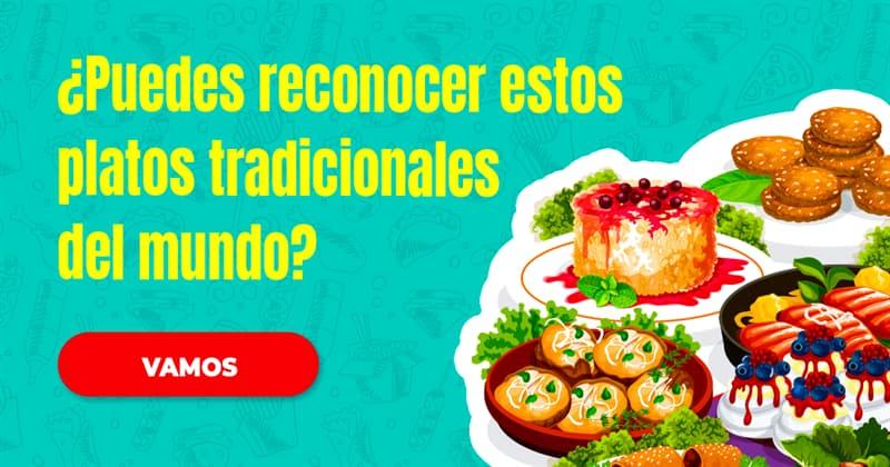 Geografía Quiz Test: ¿Puedes reconocer estos platos tradicionales del mundo?