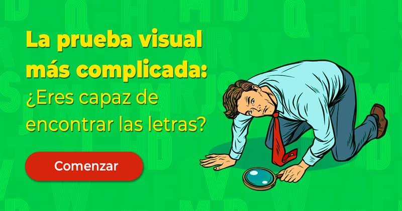 visión Quiz Test: La prueba visual más complicada: ¿Eres capaz de encontrar las letras?
