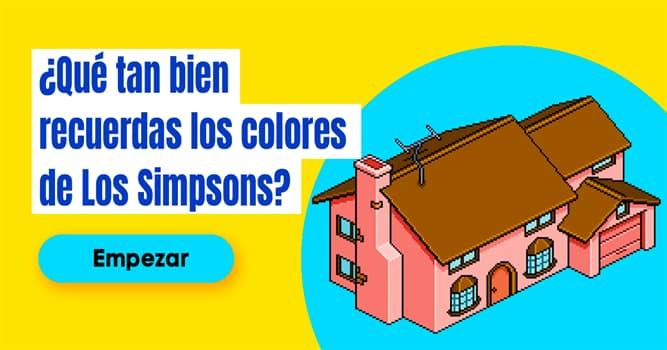Películas y TV Quiz Test: ¿Qué tan bien recuerdas los colores de Los Simpsons?