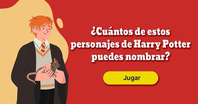 Películas y TV Quiz Test: ¿Cuántos de estos personajes de Harry Potter puedes nombrar?