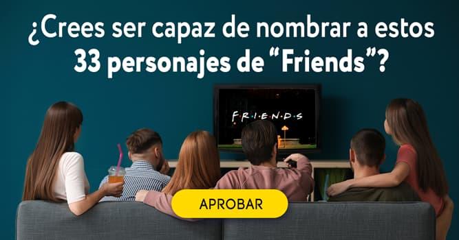 """Películas y TV Quiz Test: ¿Crees ser capaz de nombrar a estos 33 personajes de """"Friends""""?"""