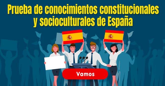 Cultura Quiz Test: Prueba de conocimientos constitucionales y socioculturales de España