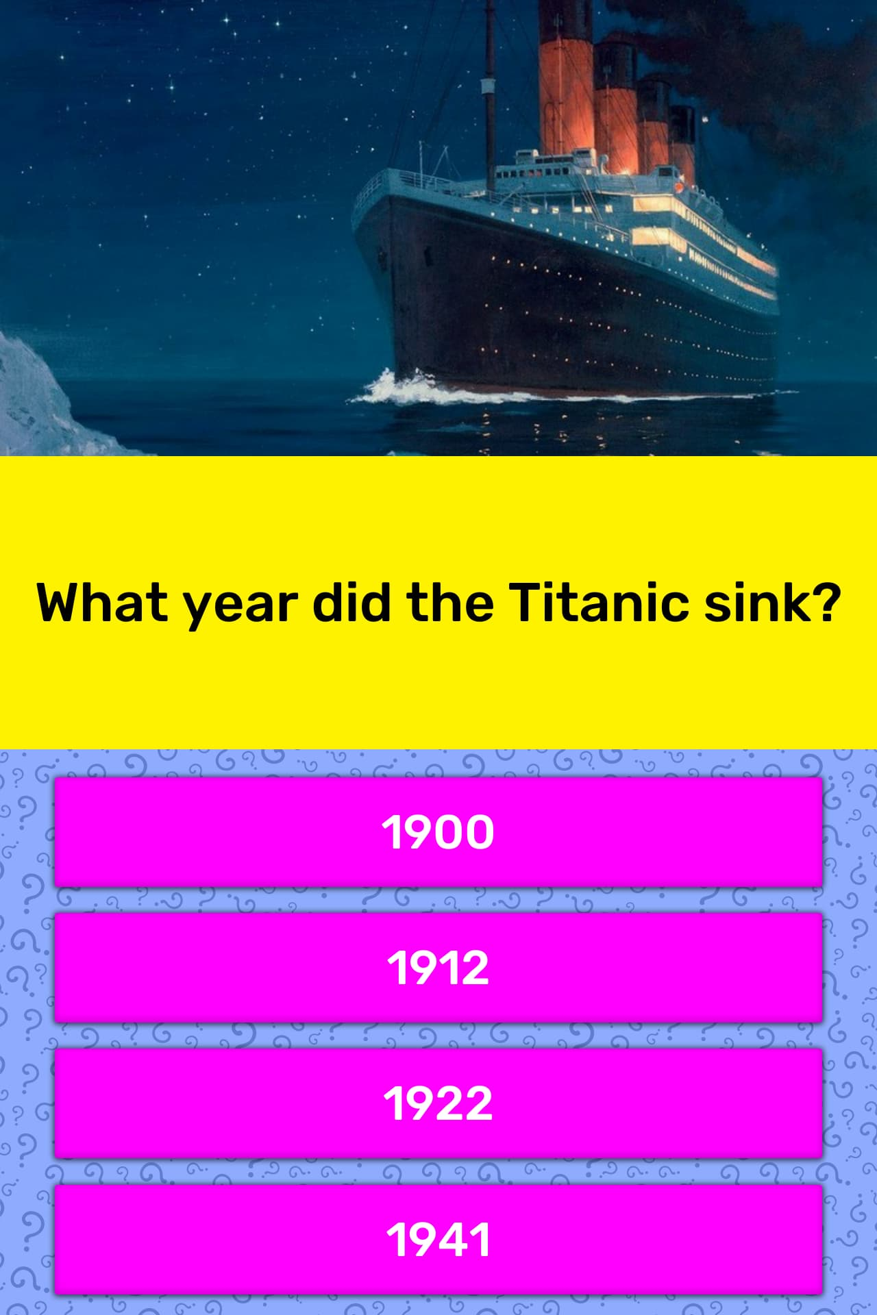 Titanic sink date