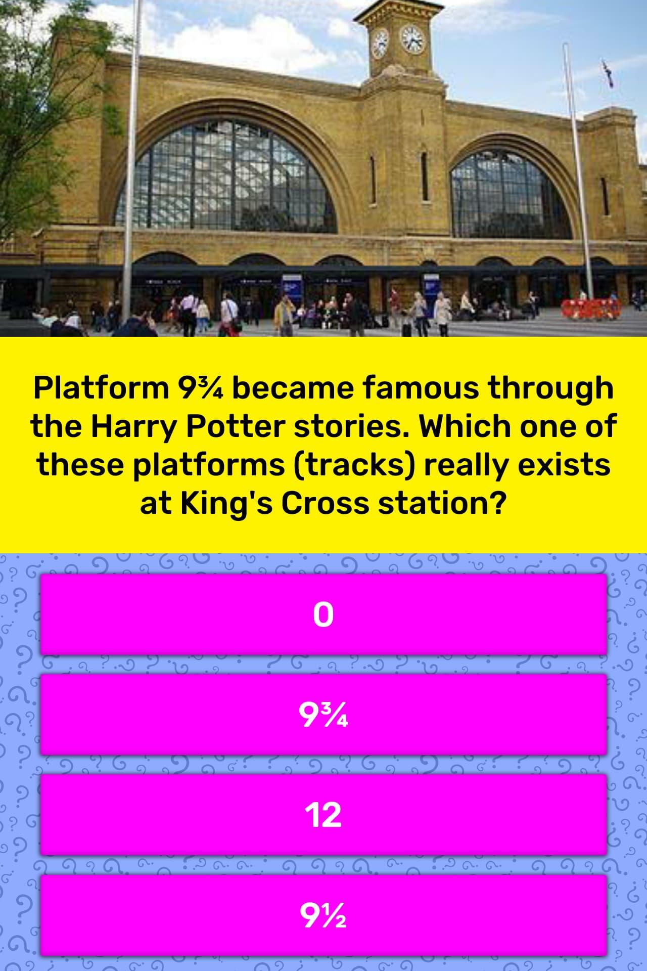 Platform 9¾ became famous through    | Trivia Answers
