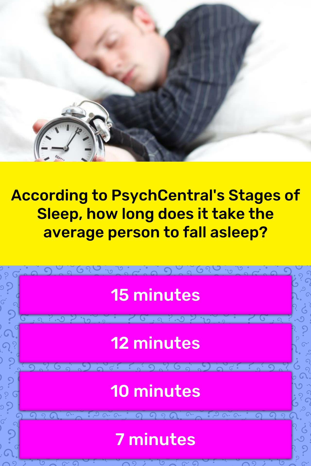According to PsychCentral's Stages    | Trivia Questions