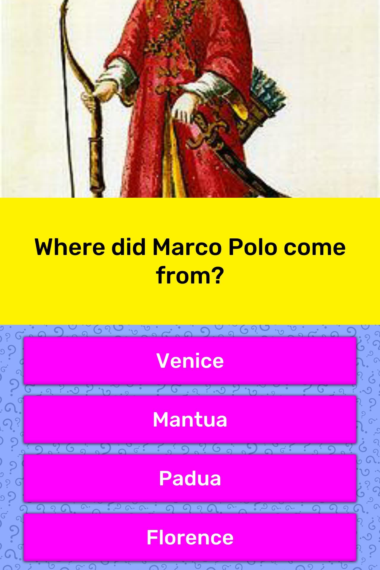 Where Did The Game Marco Polo Originate