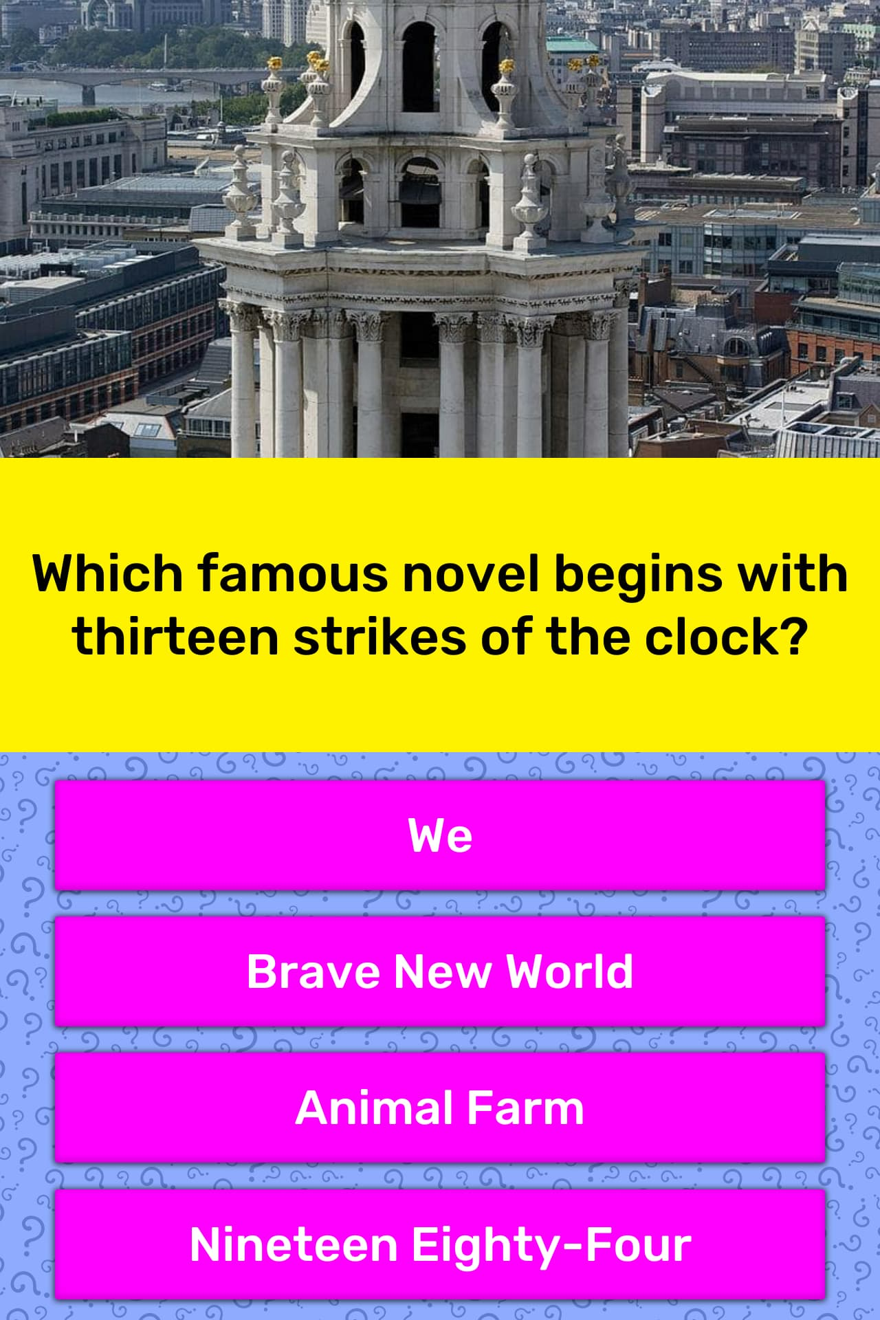Which famous novel begins with      Trivia Answers   QuizzClub
