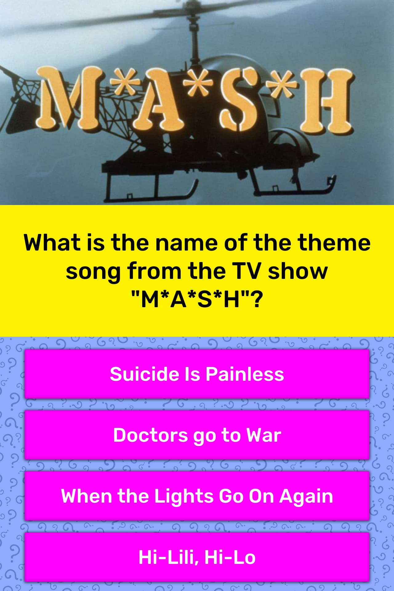 What is the name of the theme song    | Trivia Answers | QuizzClub