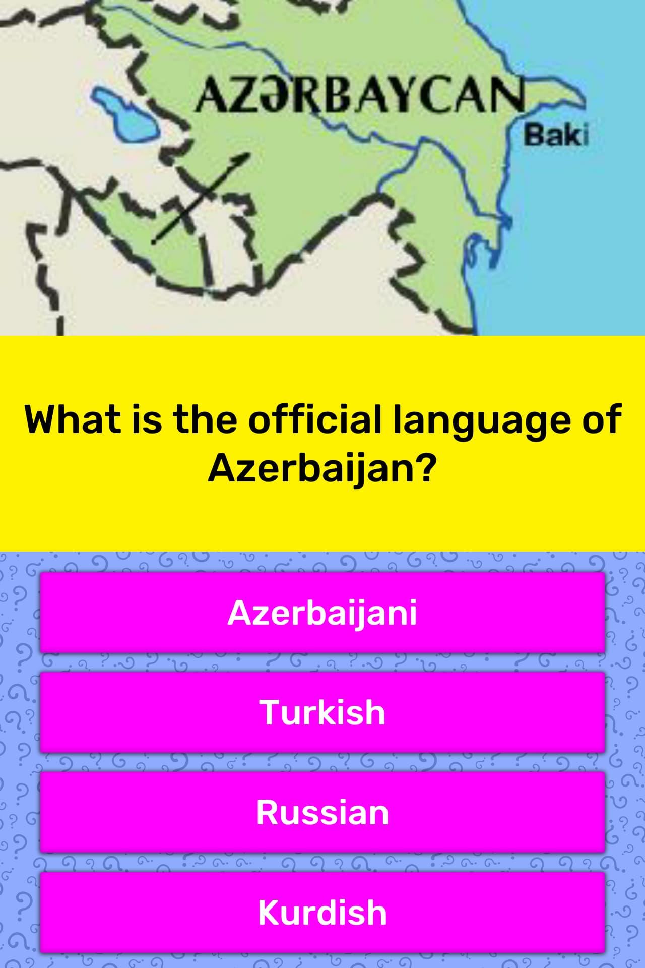 what language is spoken in azerbaijan