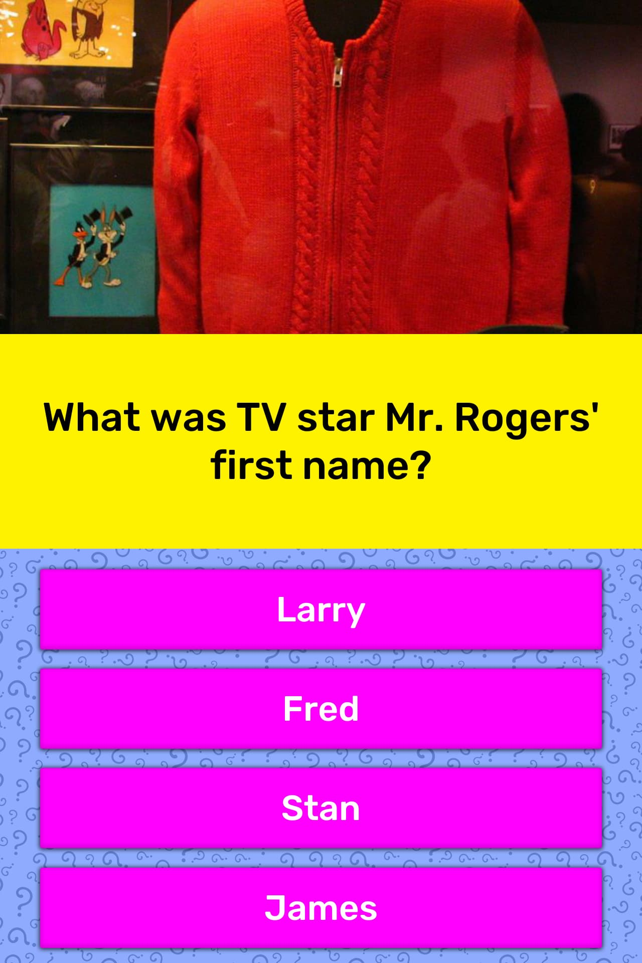 What Was Tv Star Mr Rogers First Name Trivia Answers Quizzclub