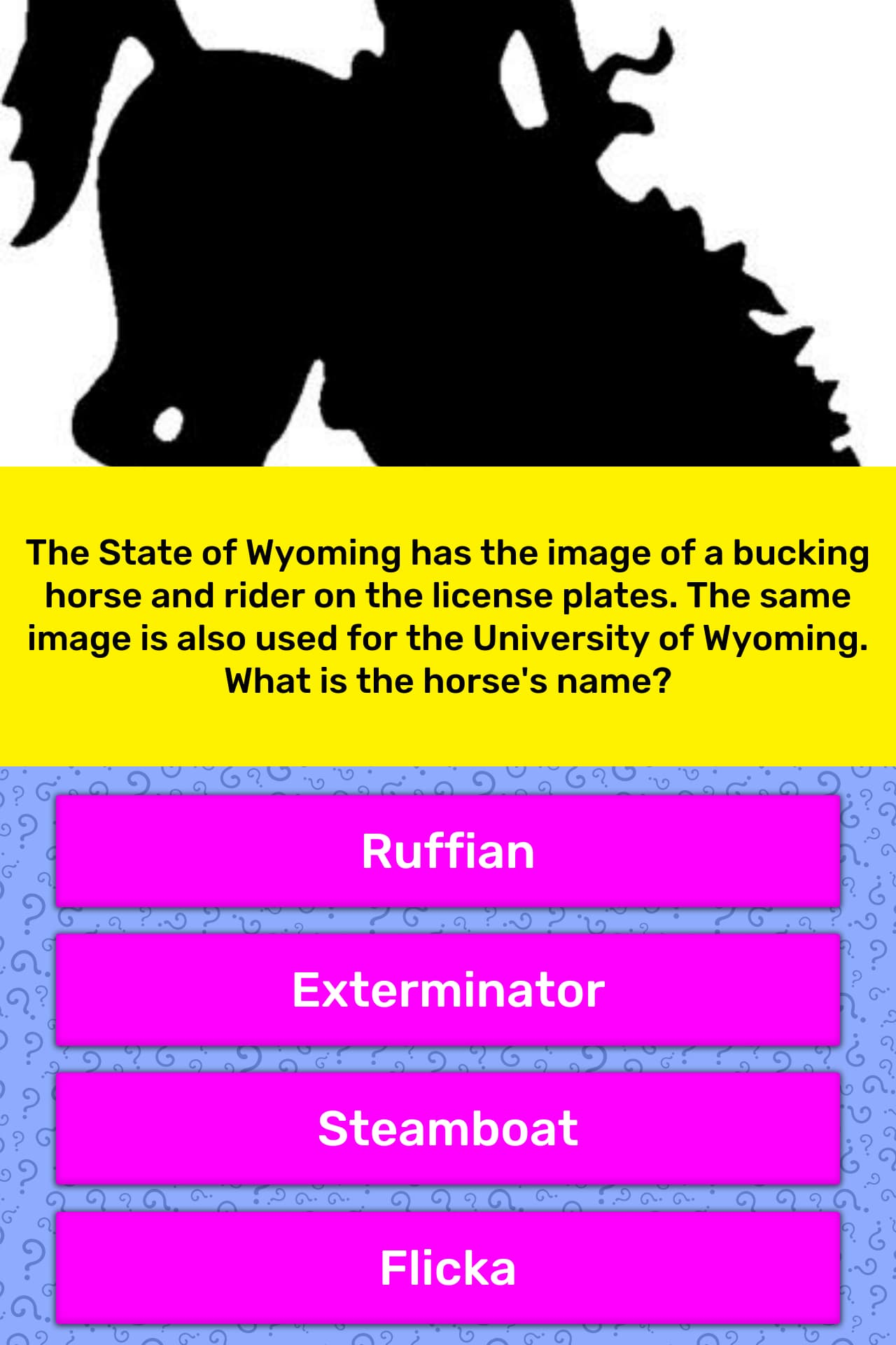 The State Of Wyoming Has The Image Trivia Answers Quizzclub