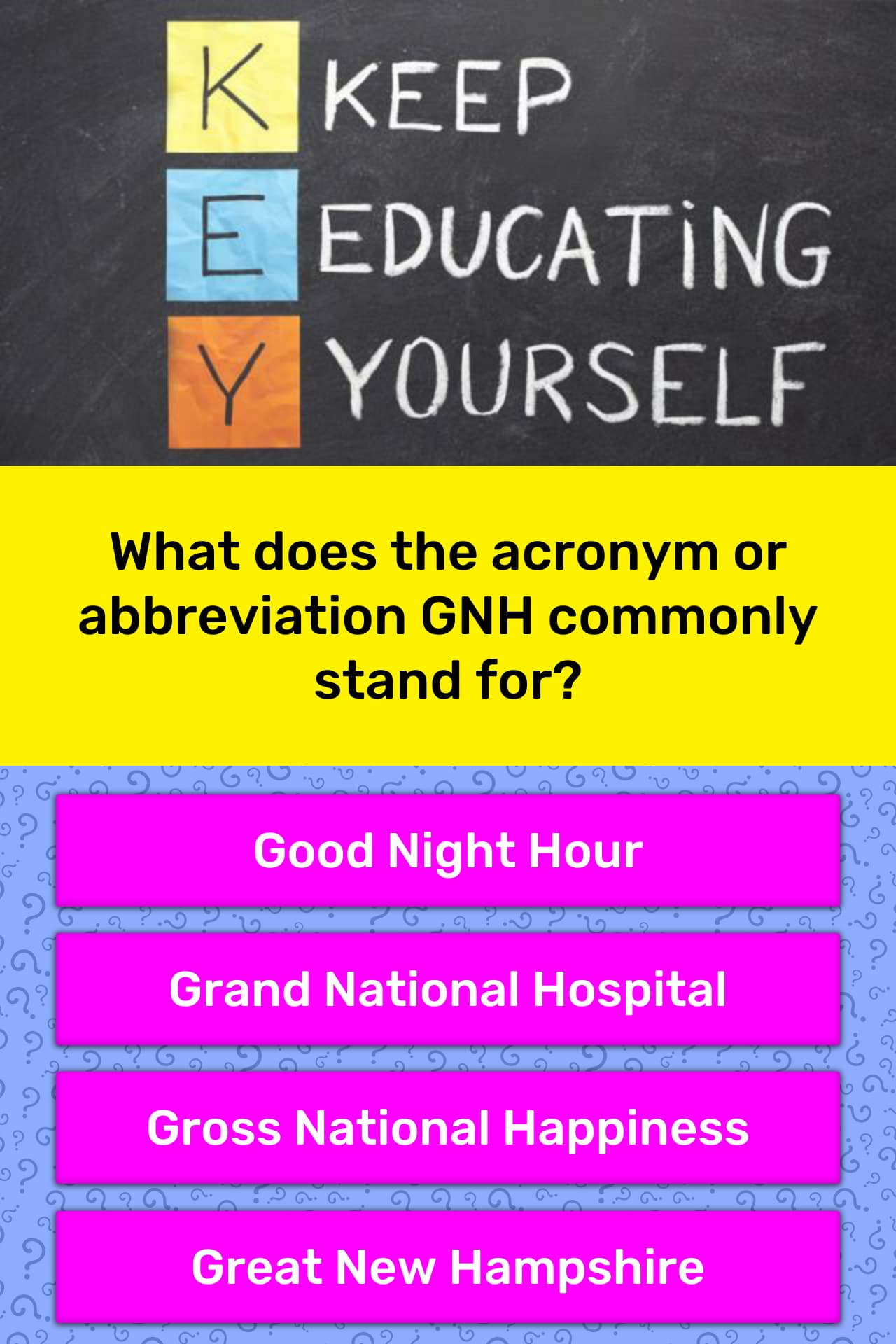 What Does The Acronym Or Trivia Answers Quizzclub