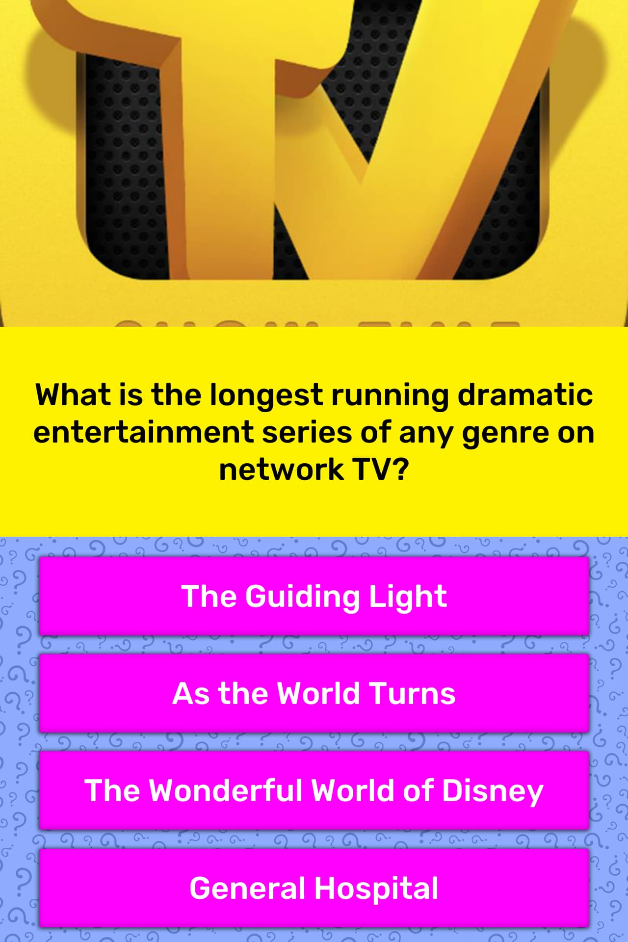 What is the longest running dramatic    | Trivia Answers | QuizzClub