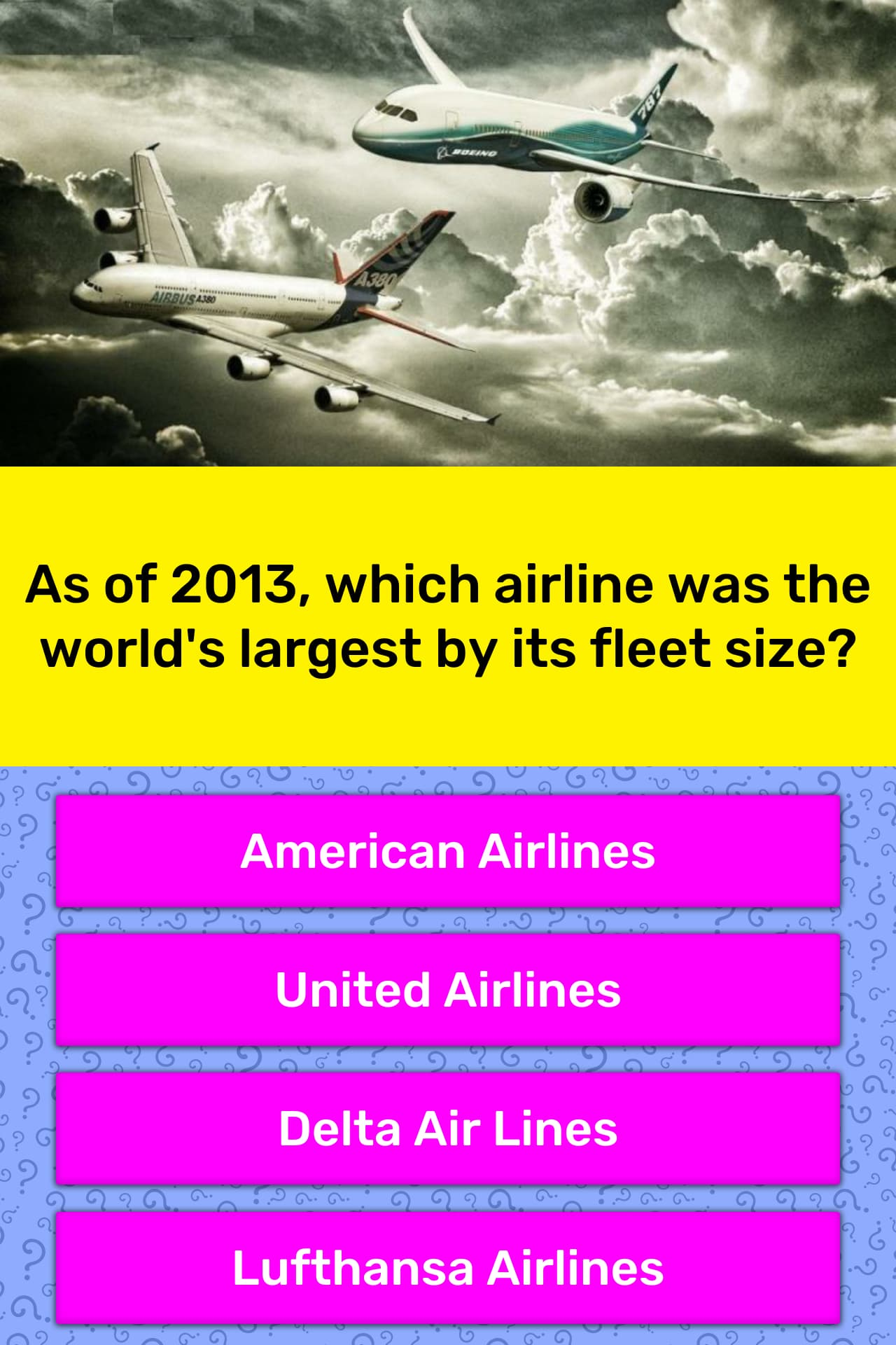 As of 2013, which airline was the    | Trivia Answers