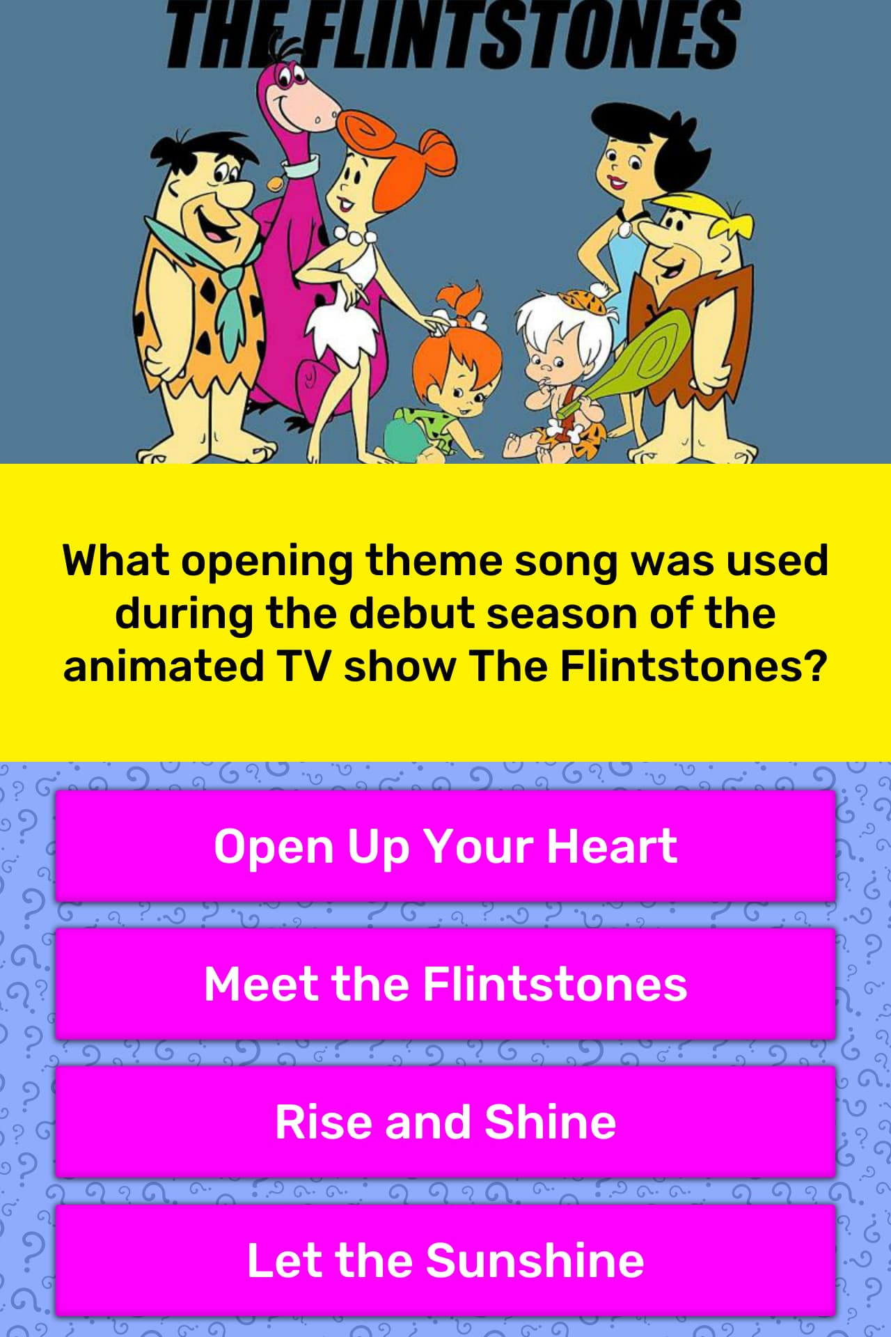 What opening theme song was used    | Trivia Answers | QuizzClub