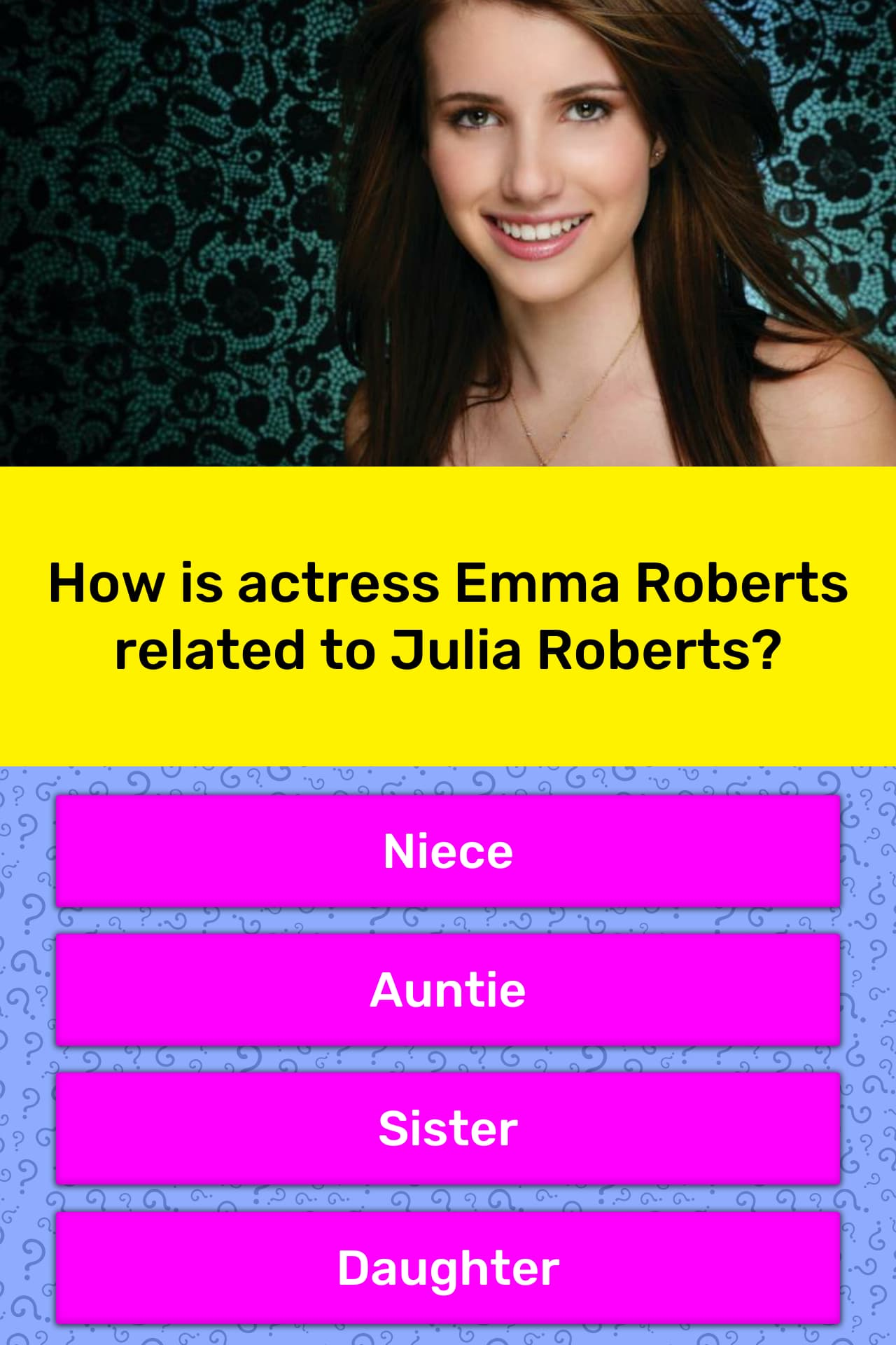 How Is Actress Emma Roberts Related Trivia Answers Quizzclub