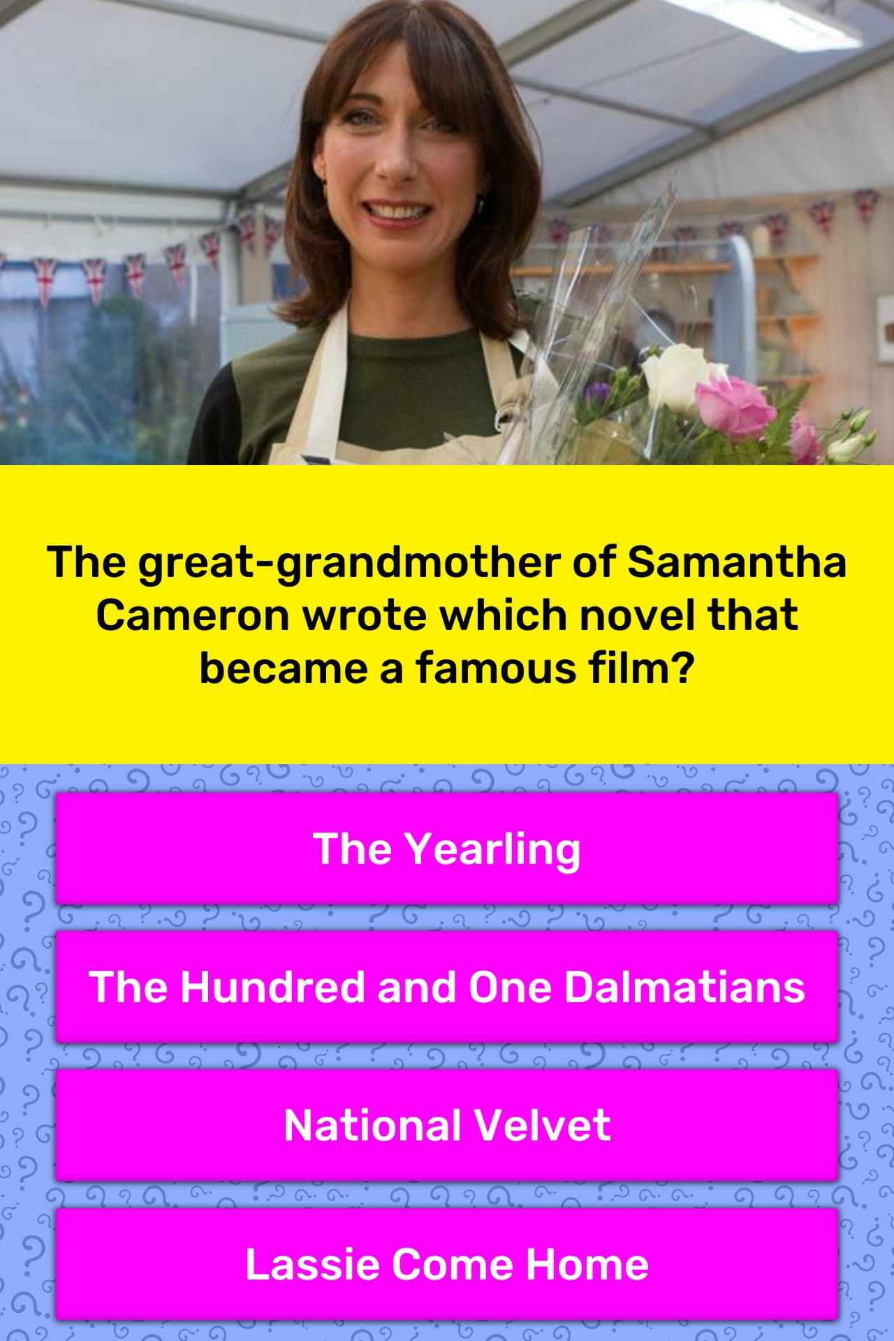 The great-grandmother of Samantha    | Trivia Answers