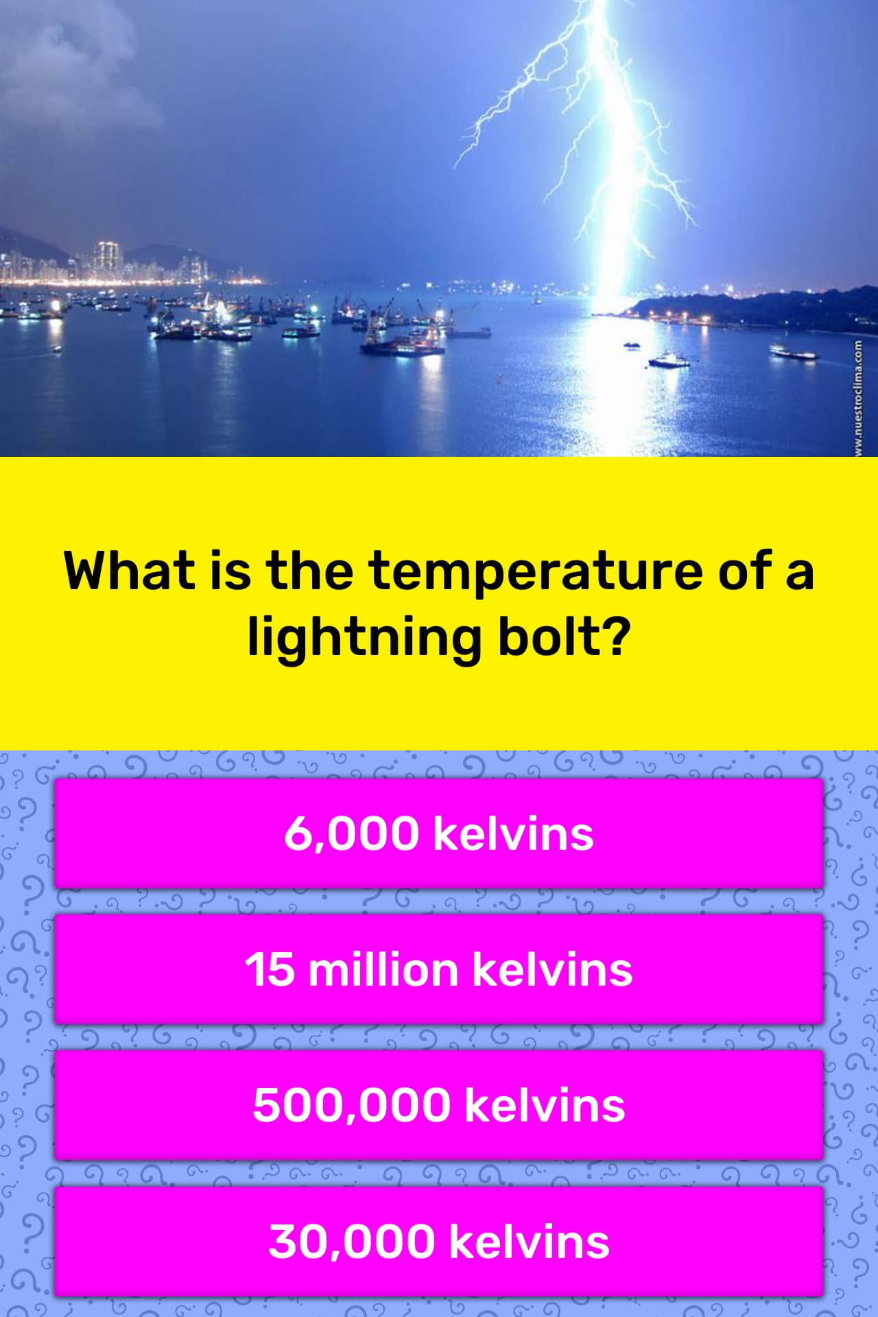 What is the temperature of a    | Trivia Answers | QuizzClub