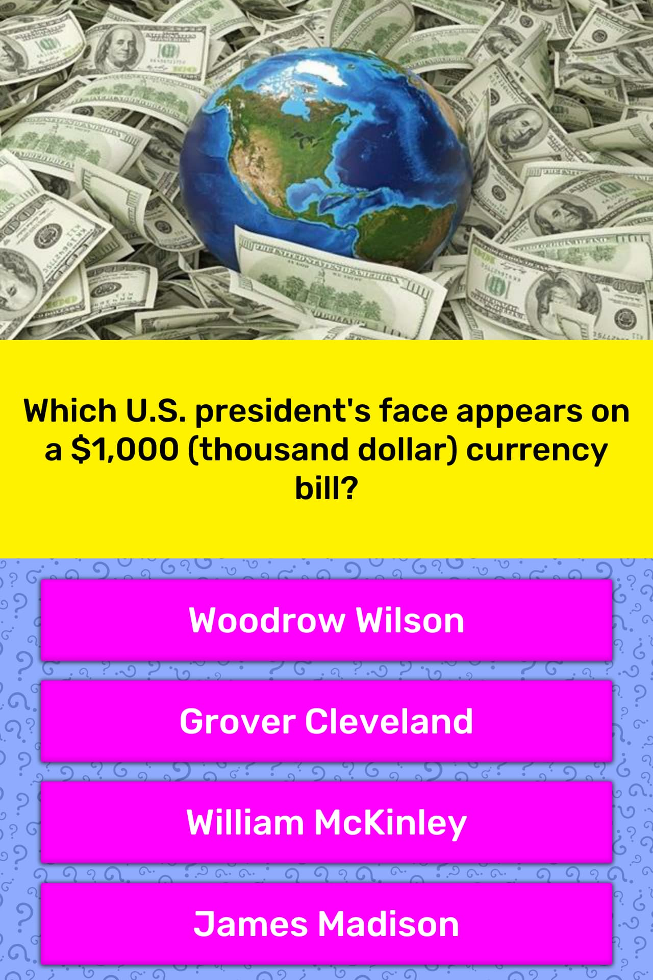 Which U S President S Face Appears Trivia Answers
