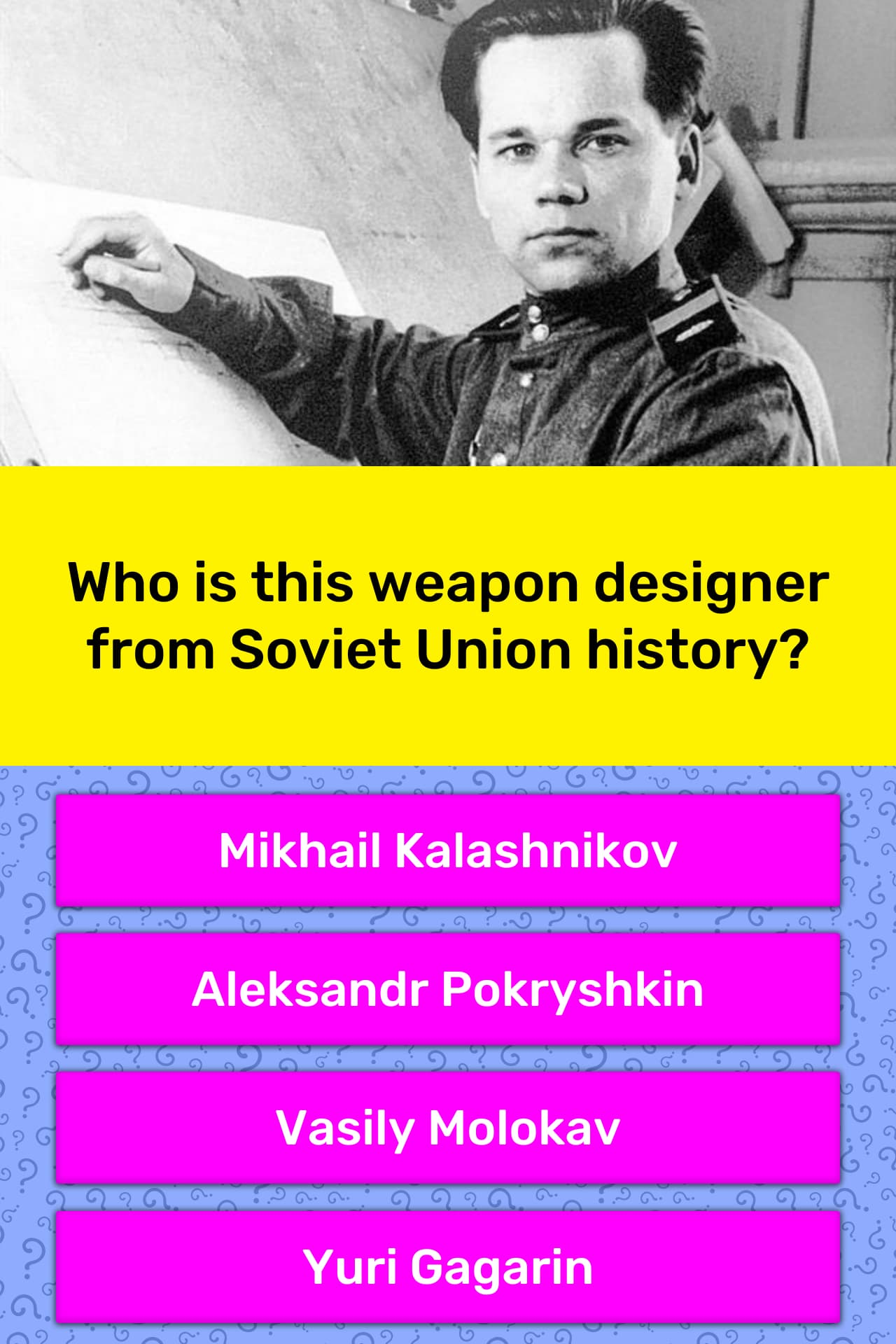 Who is this weapon designer from    | Trivia Answers | QuizzClub