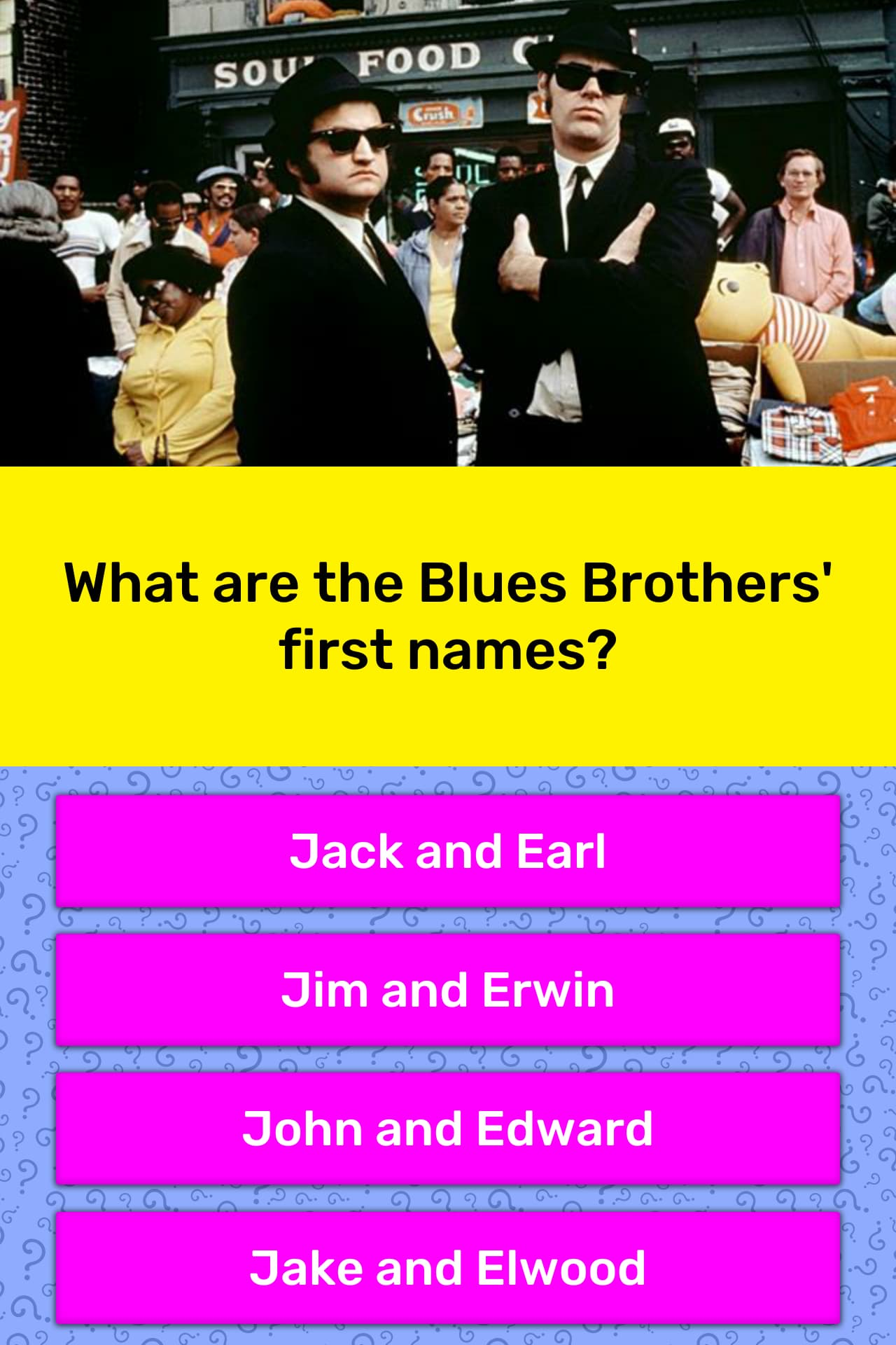 What Are The Blues Brothers First Trivia Answers Quizzclub
