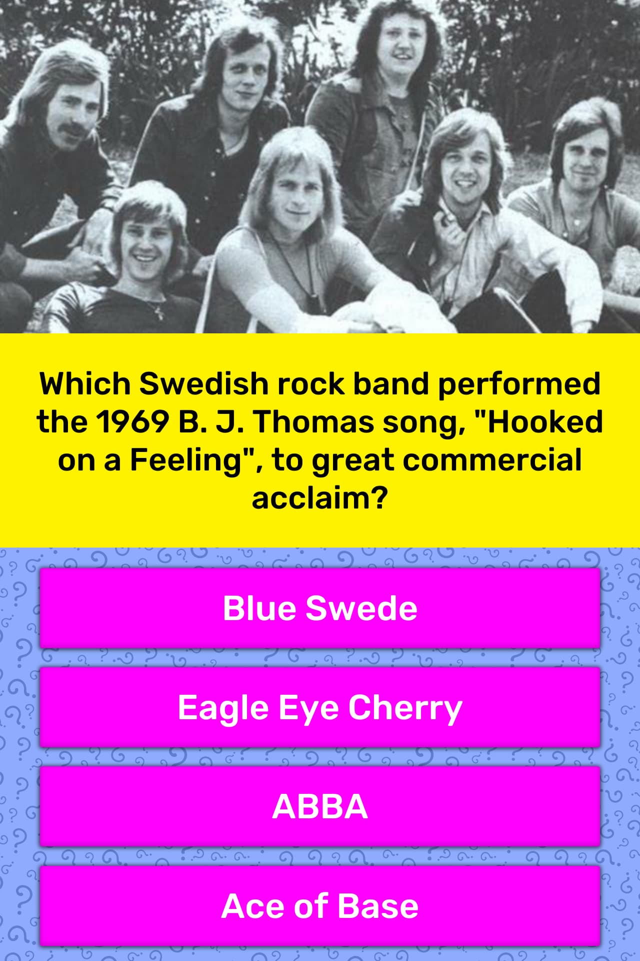 Which Swedish rock band performed    | Trivia Answers