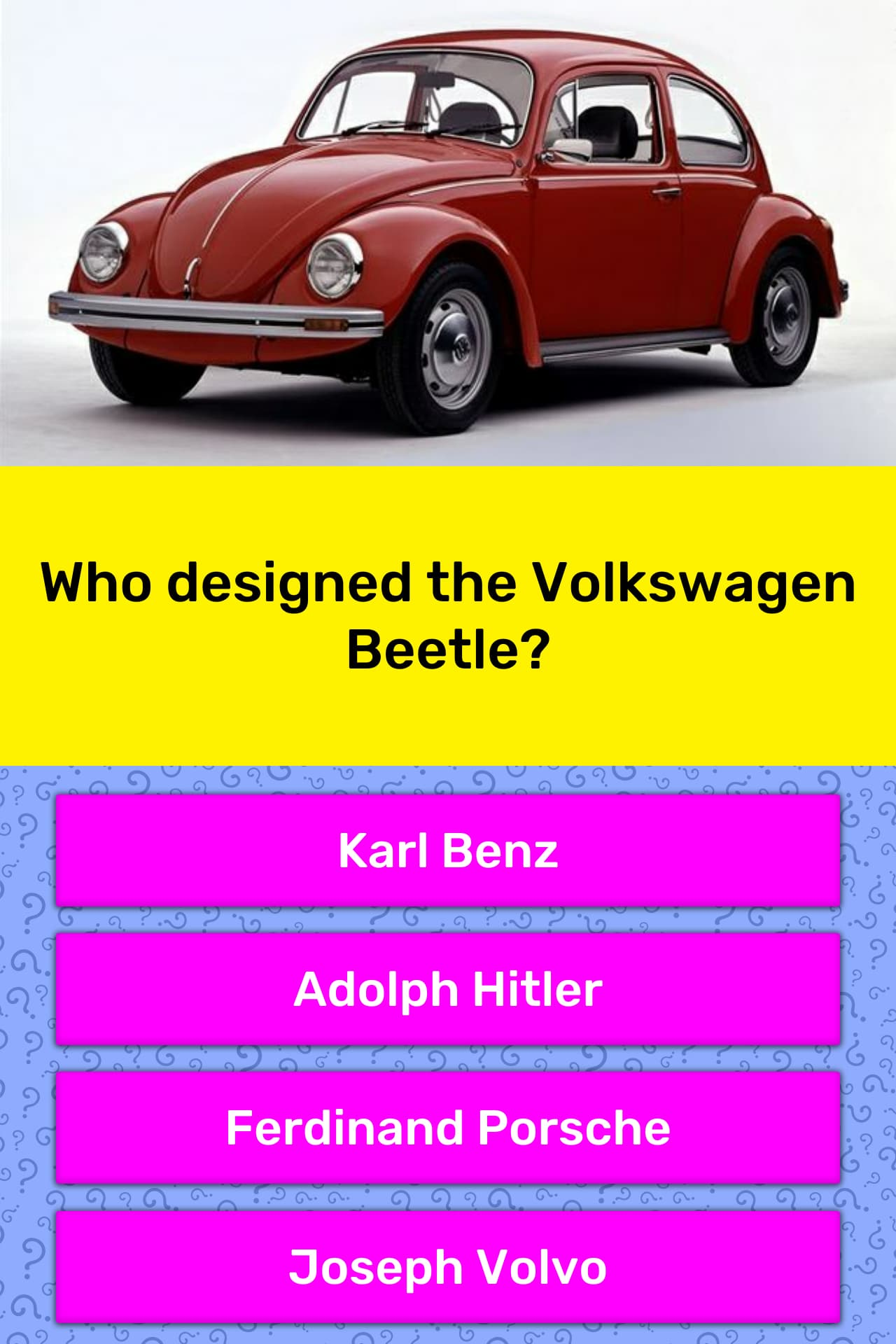 Who Designed The Volkswagen Beetle