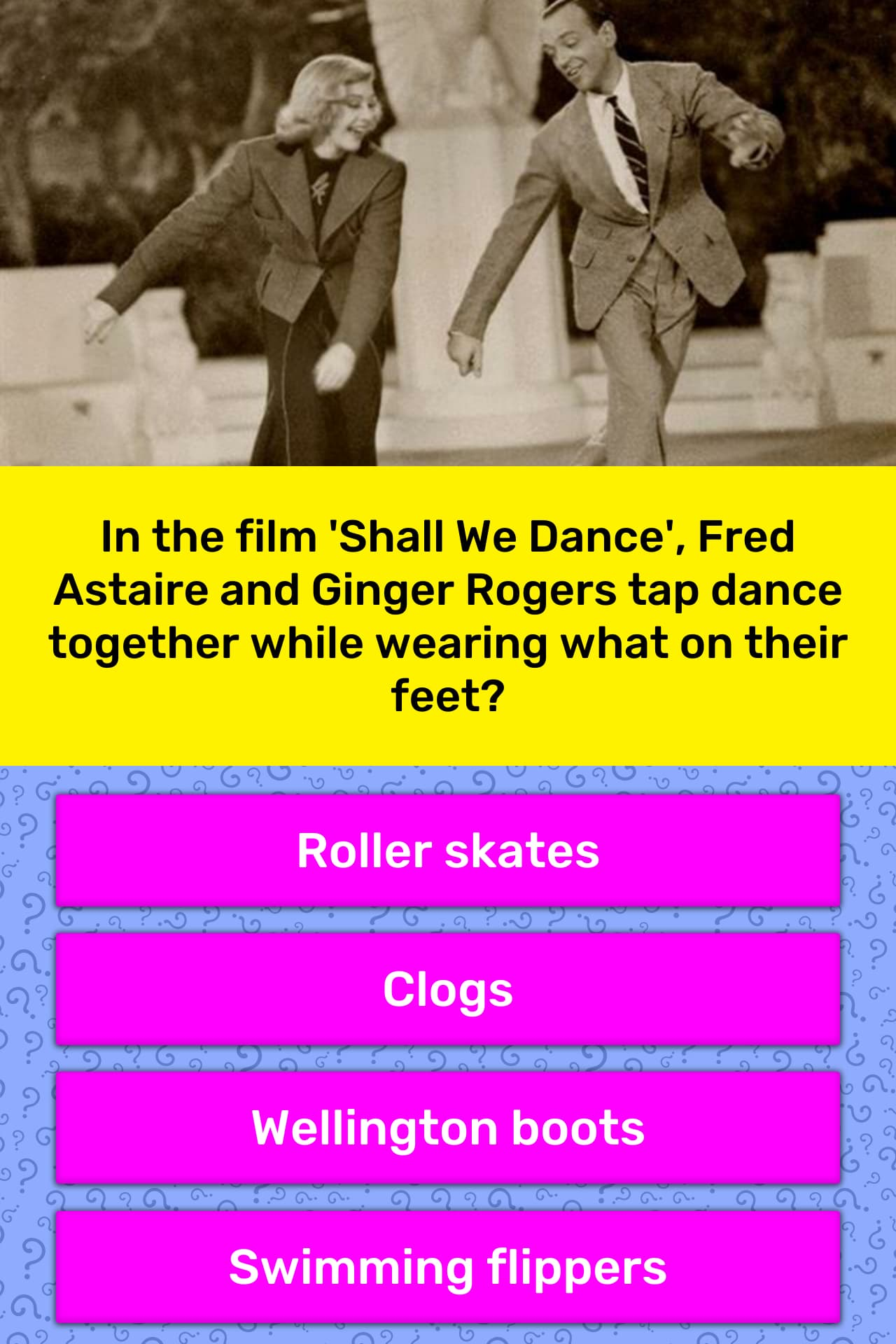 In The Film Shall We Dance Fred Trivia Answers Quizzclub