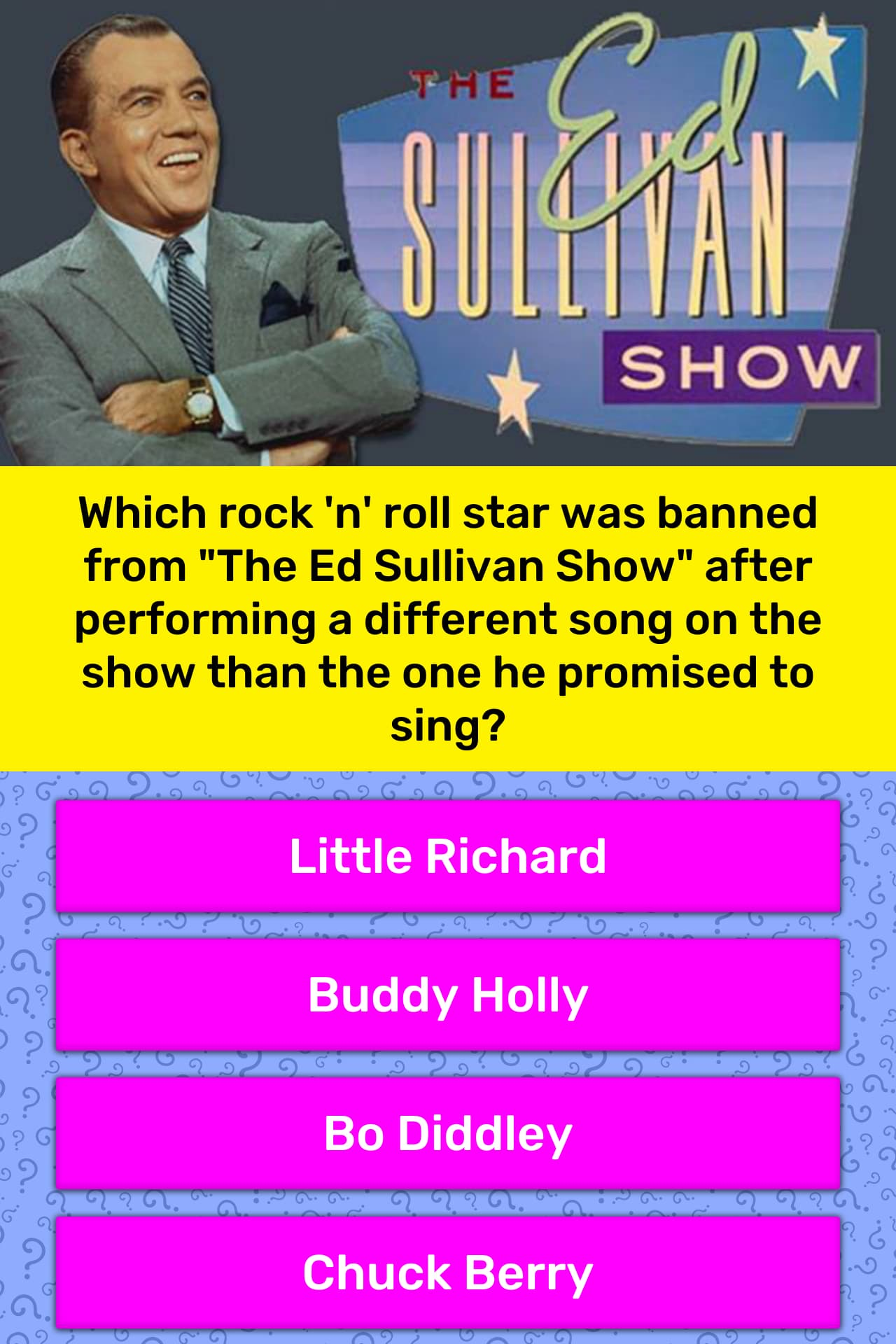 Image result for Bo Diddley in Ed Sullivan  show