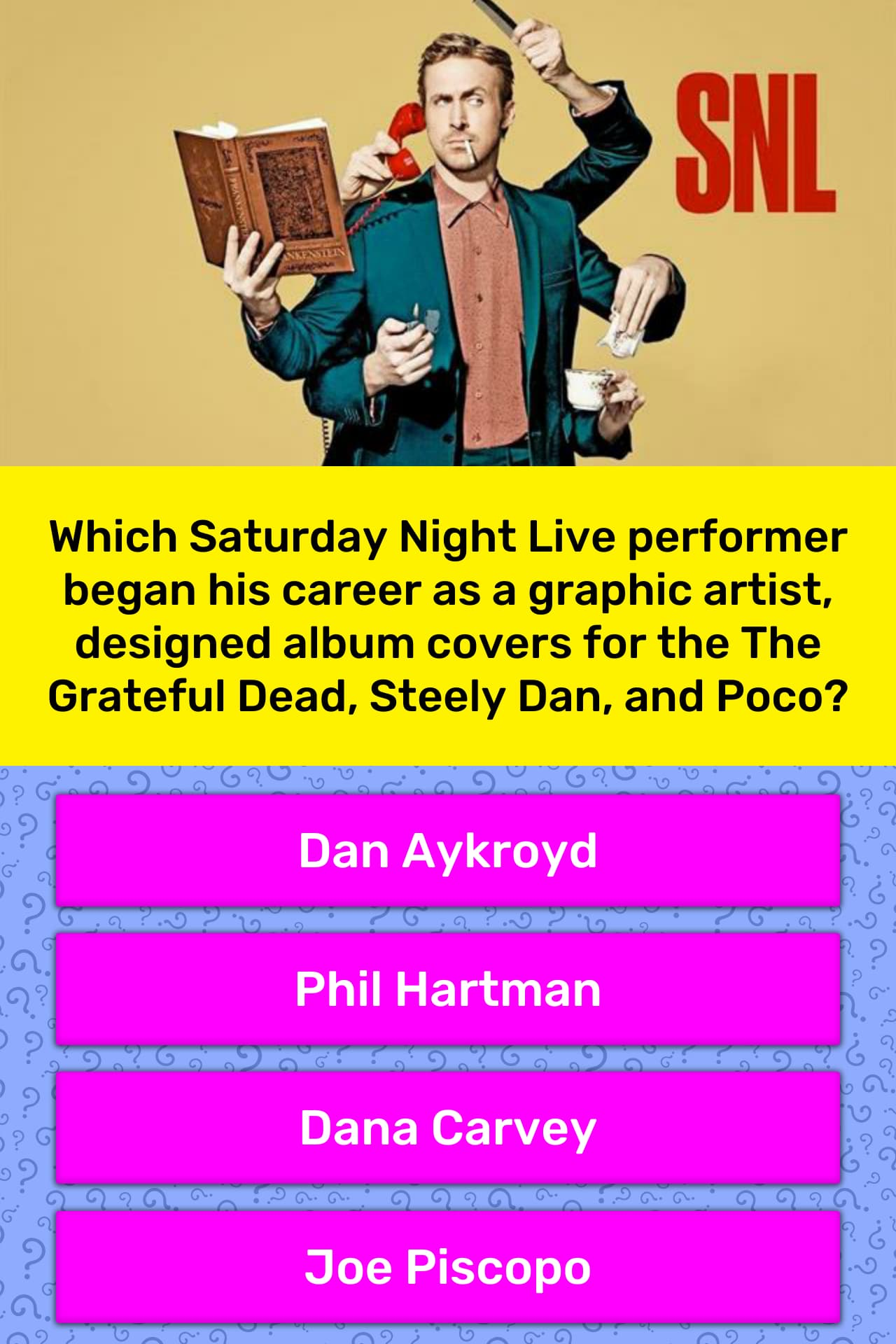 Which Saturday Night Live performer    | Trivia Answers | QuizzClub