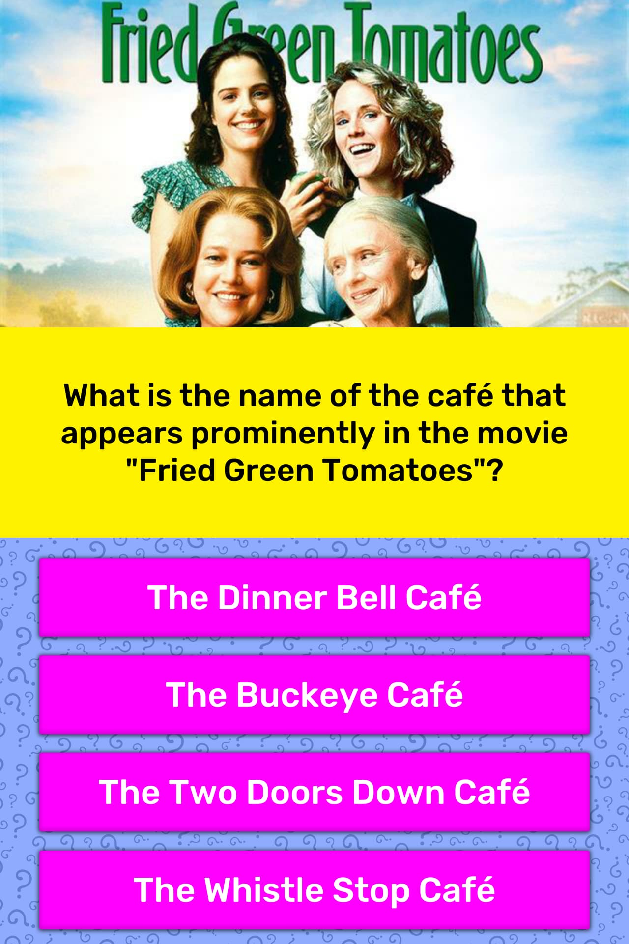 What is the name of the café that    | Trivia Answers