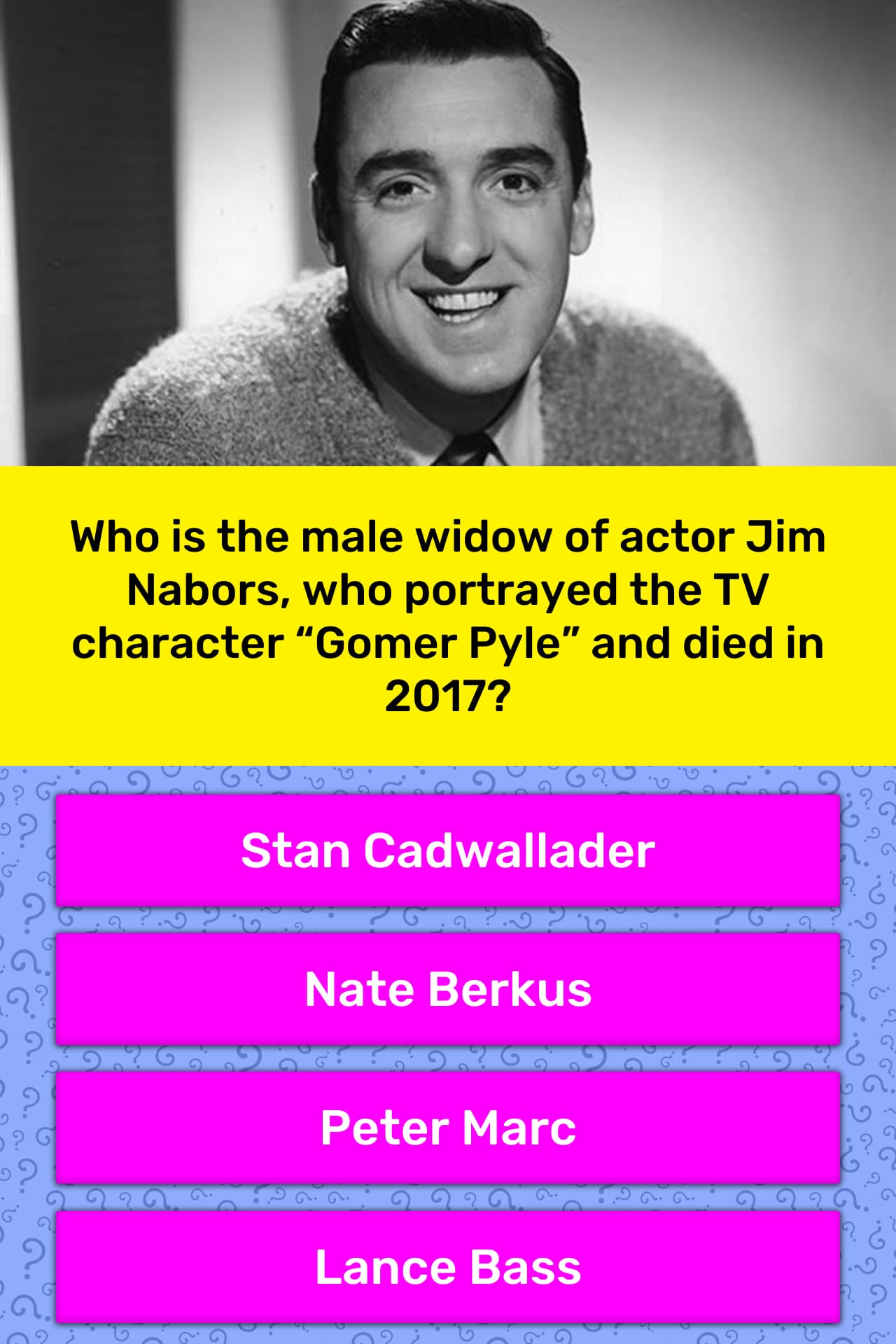 Who Is The Male Widow Of Actor Jim Trivia Answers Quizzclub In december of the year 2013, he and jim got married. who is the male widow of actor jim