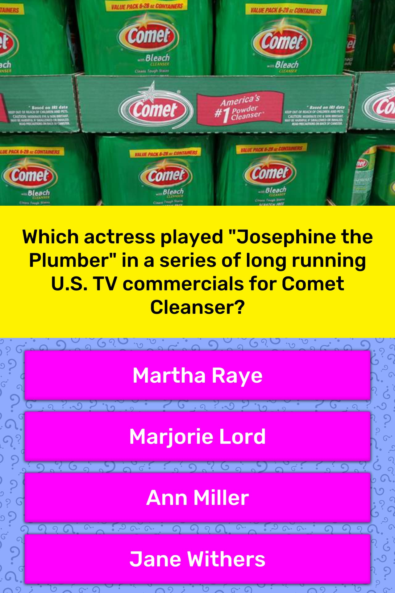 Which actress played