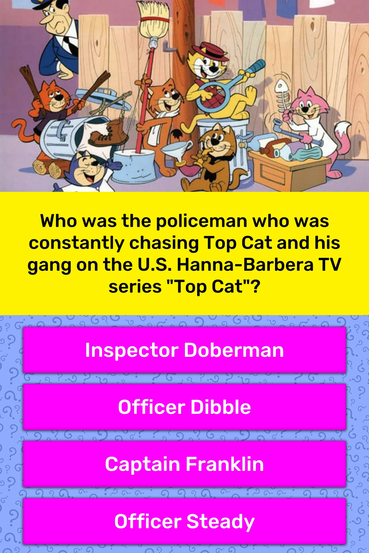 Who was the policeman who was    | Trivia Answers | QuizzClub