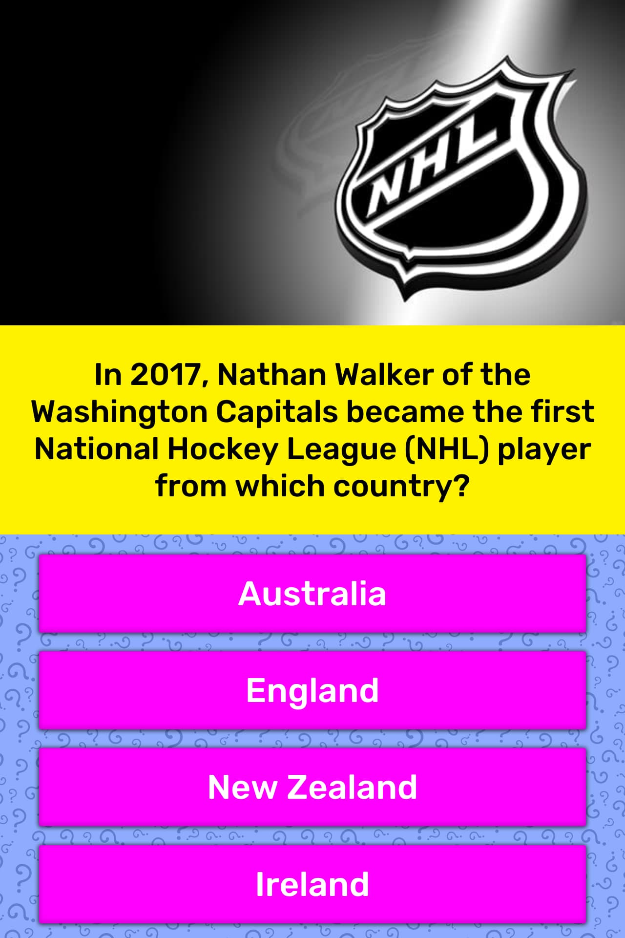 In 2017 Nathan Walker Of The Trivia Answers Quizzclub