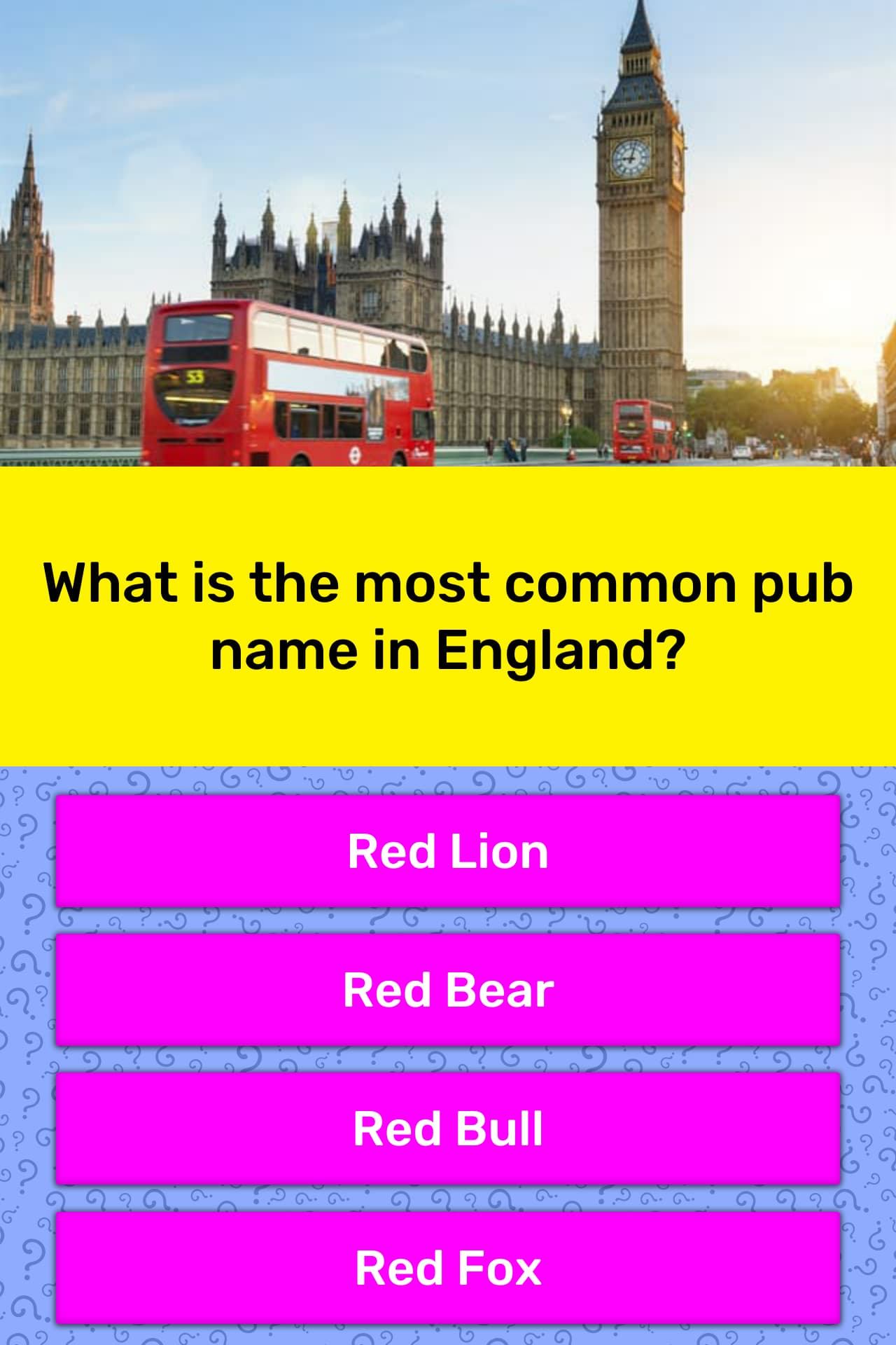 What is the most common pub name in    | Trivia Answers