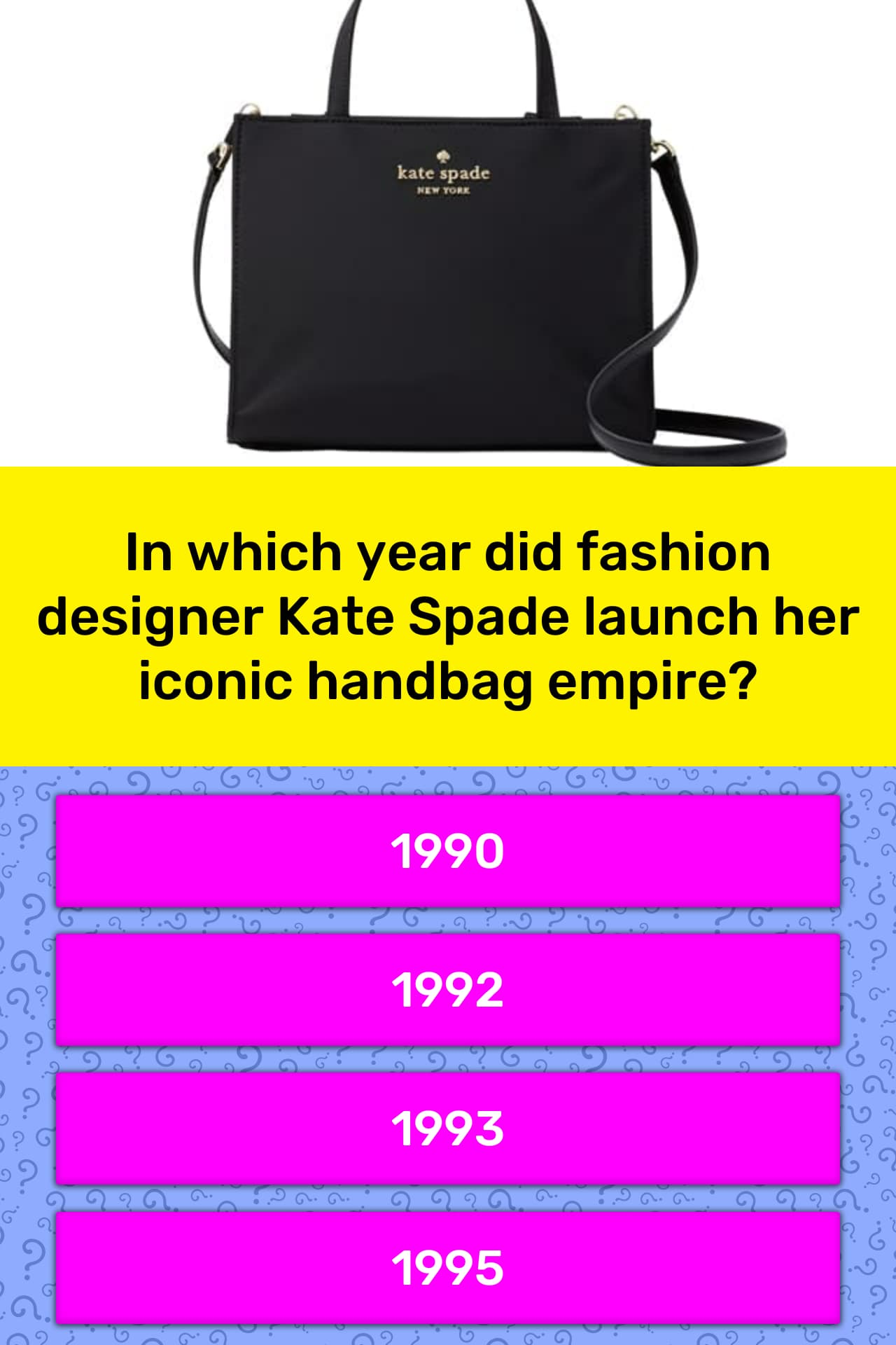 In Which Year Did Fashion Designer Trivia Answers Quizzclub