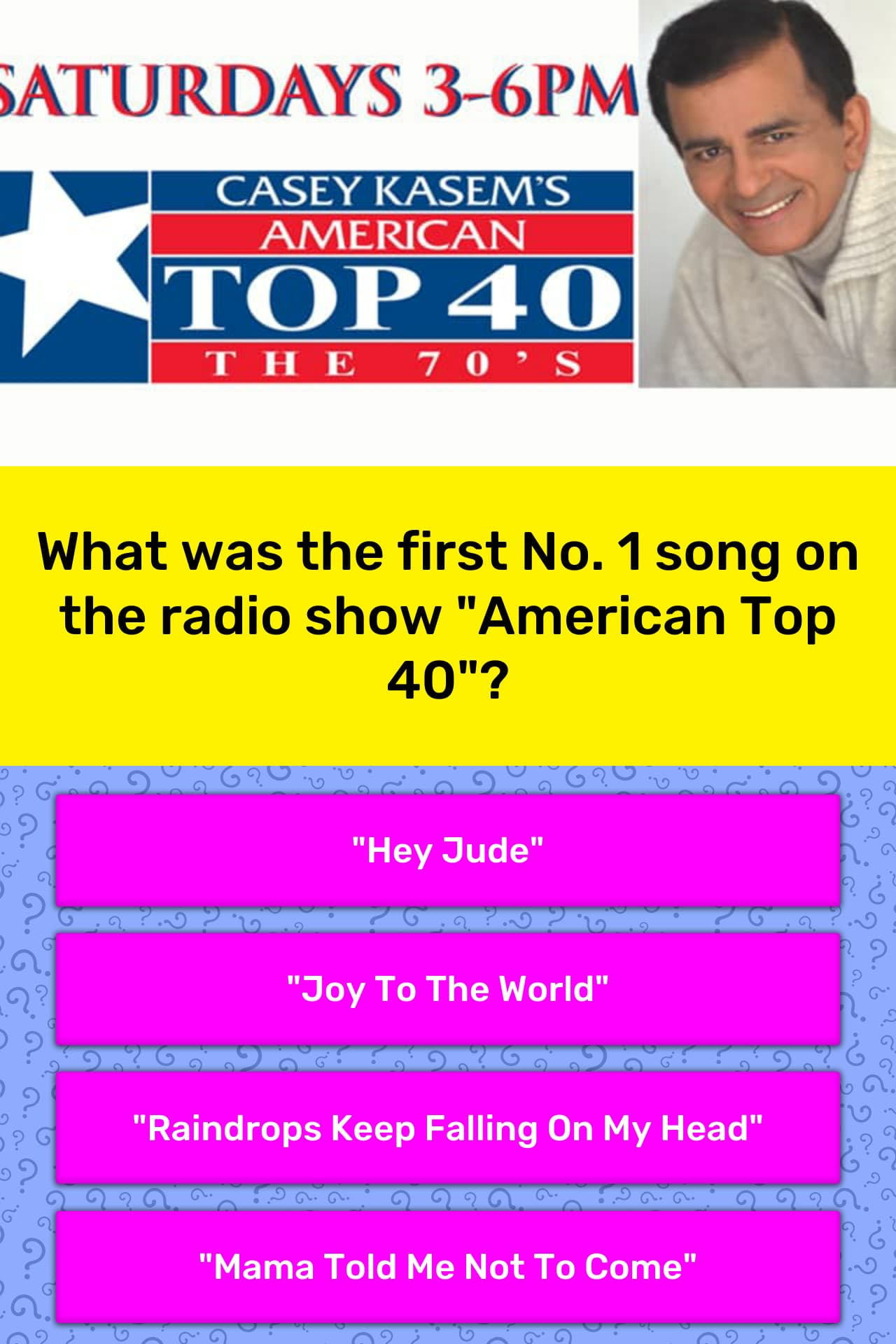 What was the first No  1 song on the    | Trivia Answers