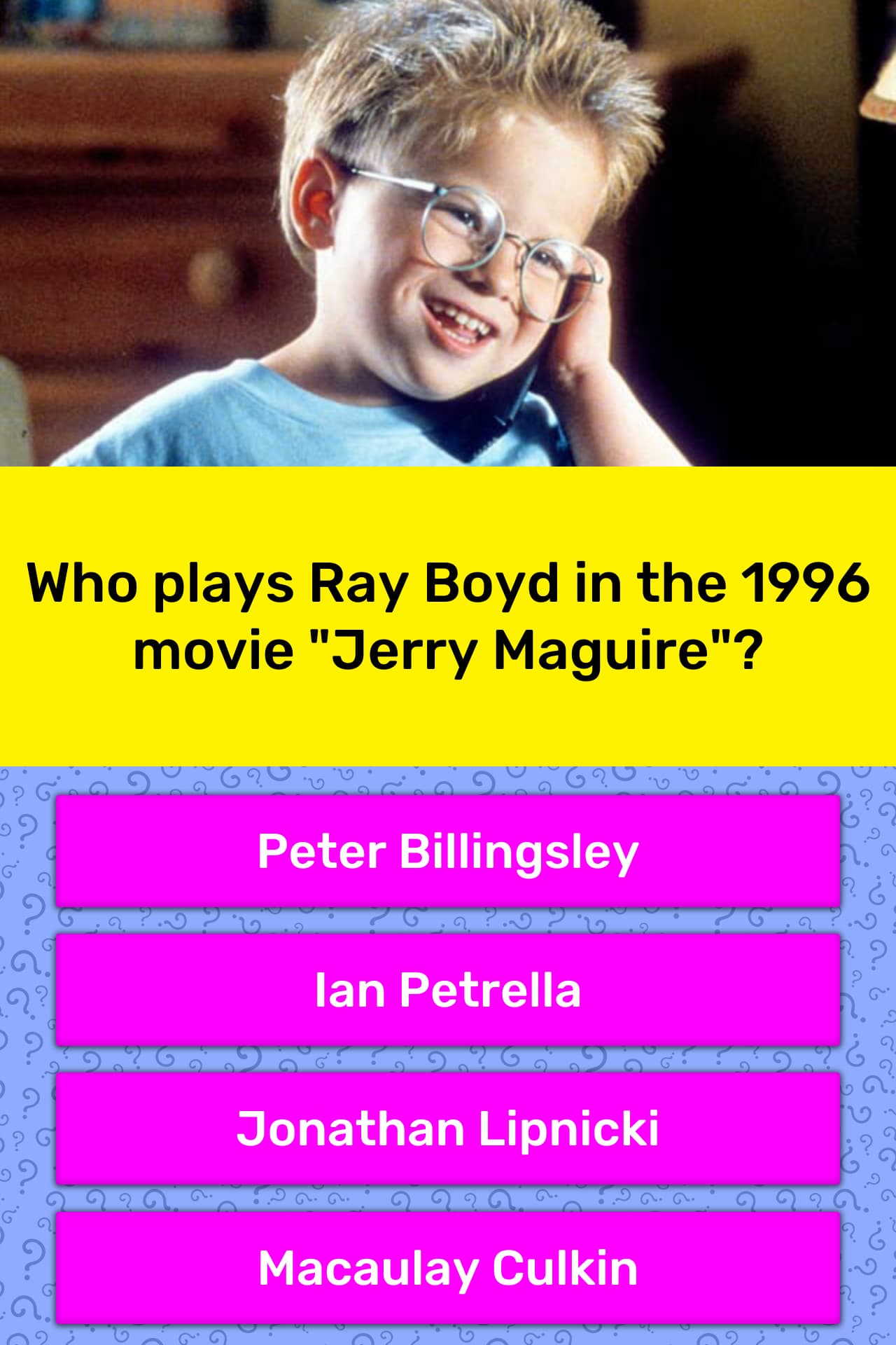 Who plays Ray Boyd in the 1996 movie    | Trivia Answers