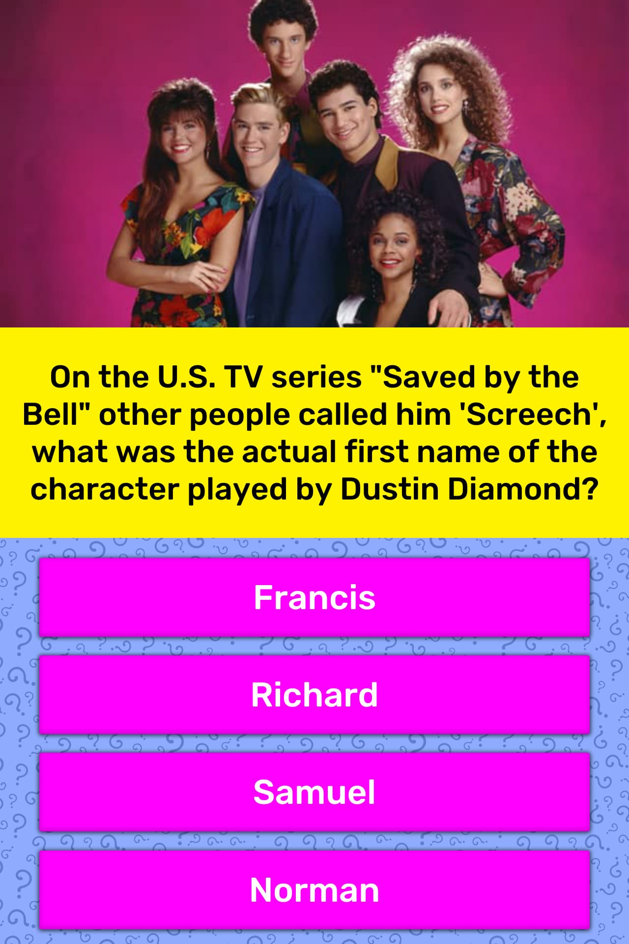 """On the U.S. TV series """"Saved by the... 
